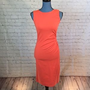 Kenneth Cole body con w ruched side & exposed zip